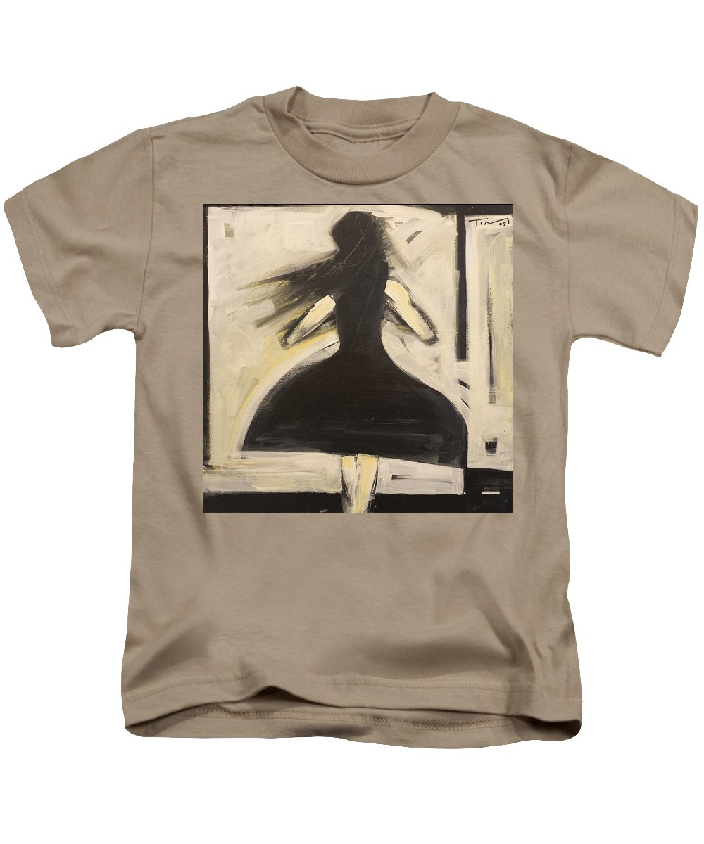 Twirl Kids T-Shirt featuring the painting Twirling by Tim Nyberg