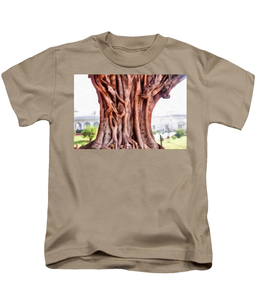 Tree Trunk Kids T-Shirt featuring the photograph Twisted Gnarled Tree by Ashish Agarwal