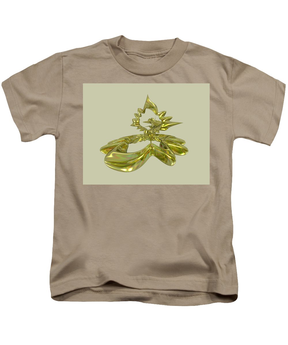 Fractal Kids T-Shirt featuring the digital art UFO by Frederic Durville