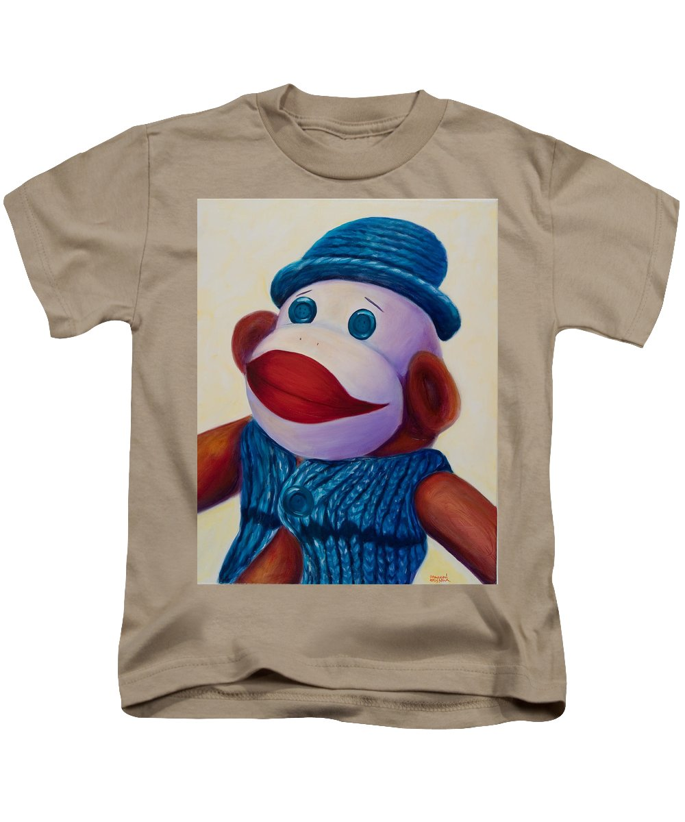 Children Kids T-Shirt featuring the painting Uncle Frank by Shannon Grissom