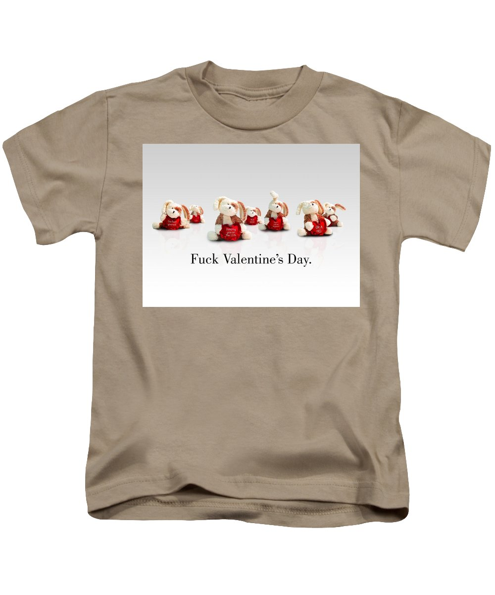Valentine's Day Kids T-Shirt featuring the digital art Valentine's Day by Dorothy Binder