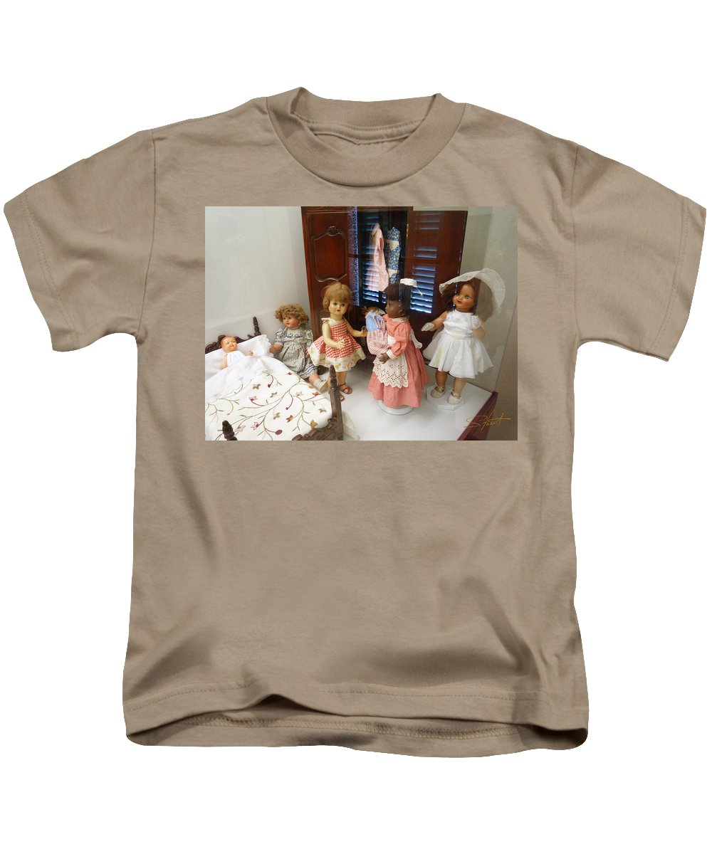Doll Kids T-Shirt featuring the photograph Valley Of The Dolls by Charles Stuart