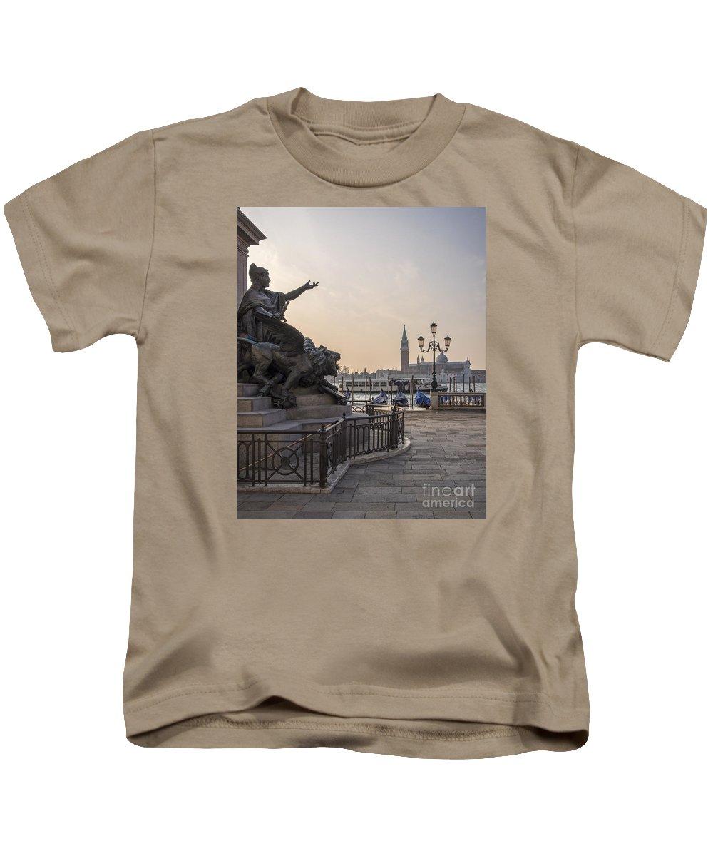 Architectural Kids T-Shirt featuring the photograph Venice - Monumento Nazionale A Vittorio Emanuele by Eden Breitz