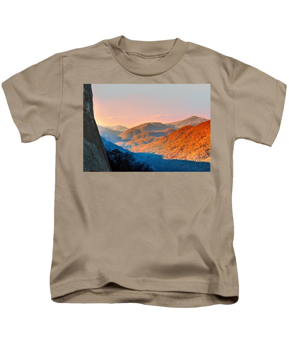 Landscape Kids T-Shirt featuring the photograph View From Chimney Rock-north Carolina by Steve Karol