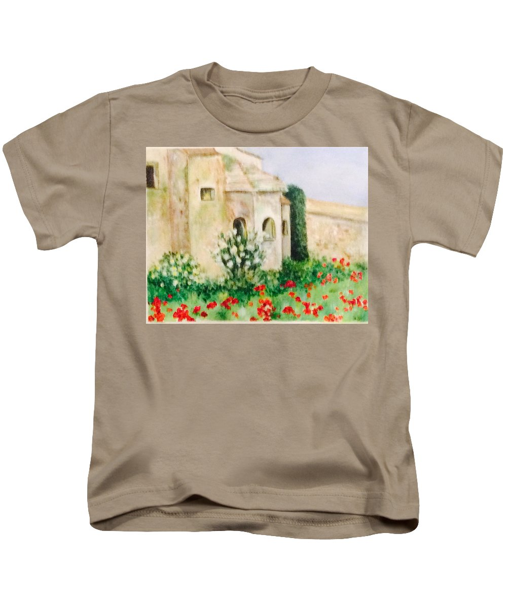 Landscape Kids T-Shirt featuring the painting Vincent's Asylum by Denise Mc Nellis