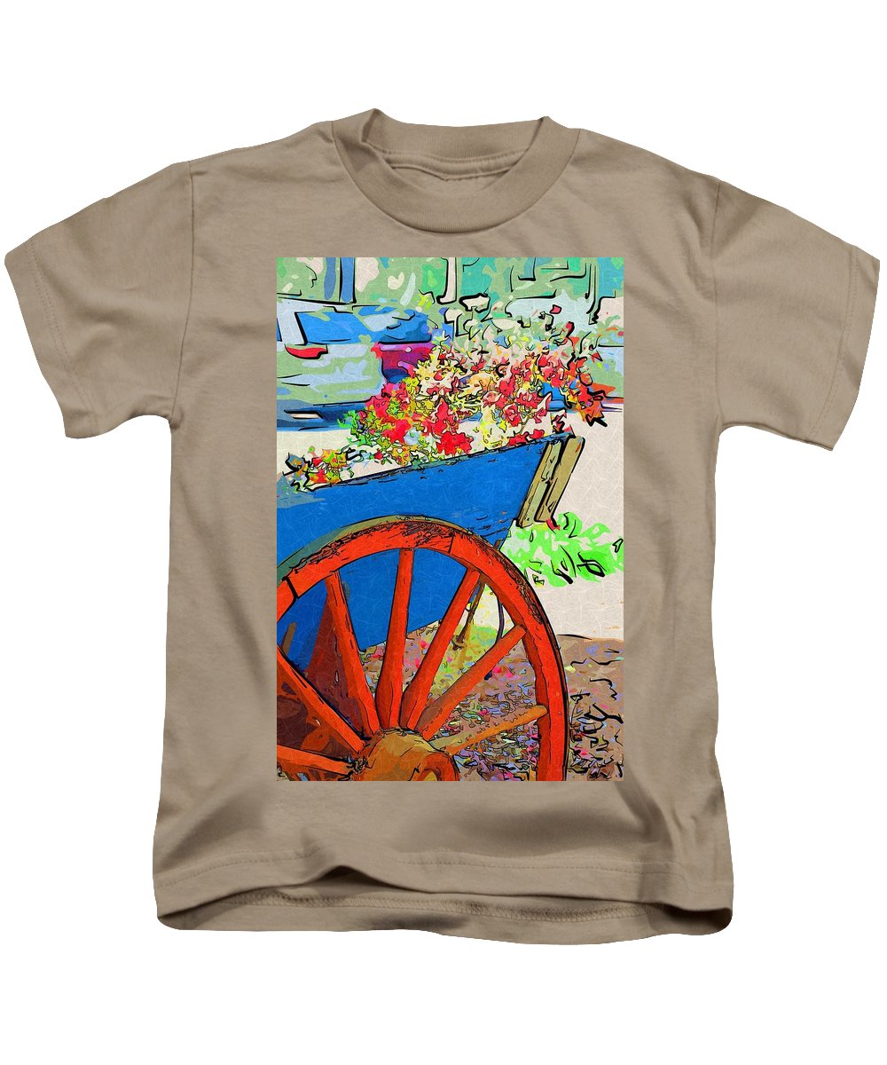 Wheel Kids T-Shirt featuring the photograph Wagon Wheel by Donna Bentley