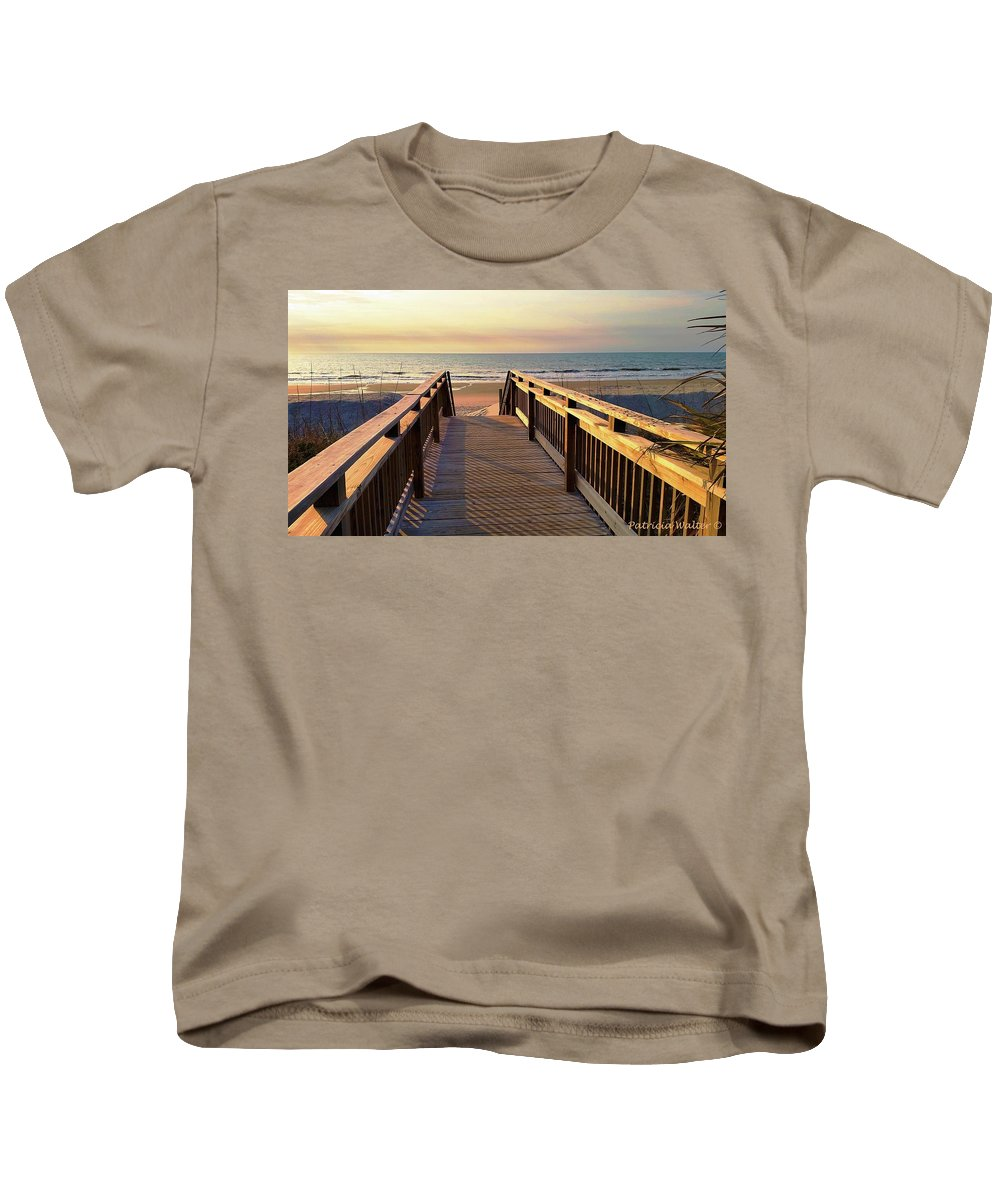Beach Kids T-Shirt featuring the photograph Walk To The Beach by Patricia Walter