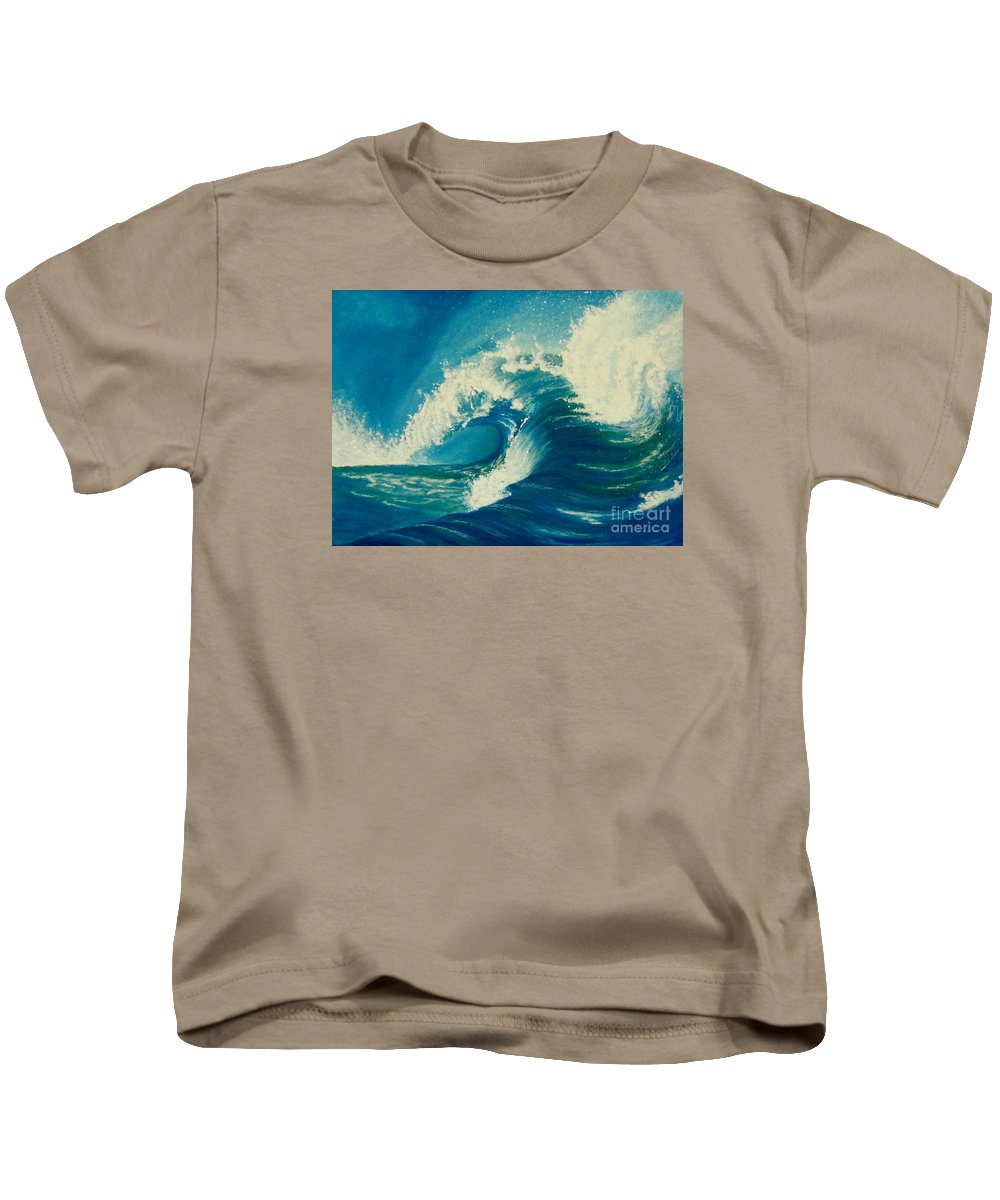 Wave Kids T-Shirt featuring the digital art Washing By The Word by Giovanna Borgo-Carrillo
