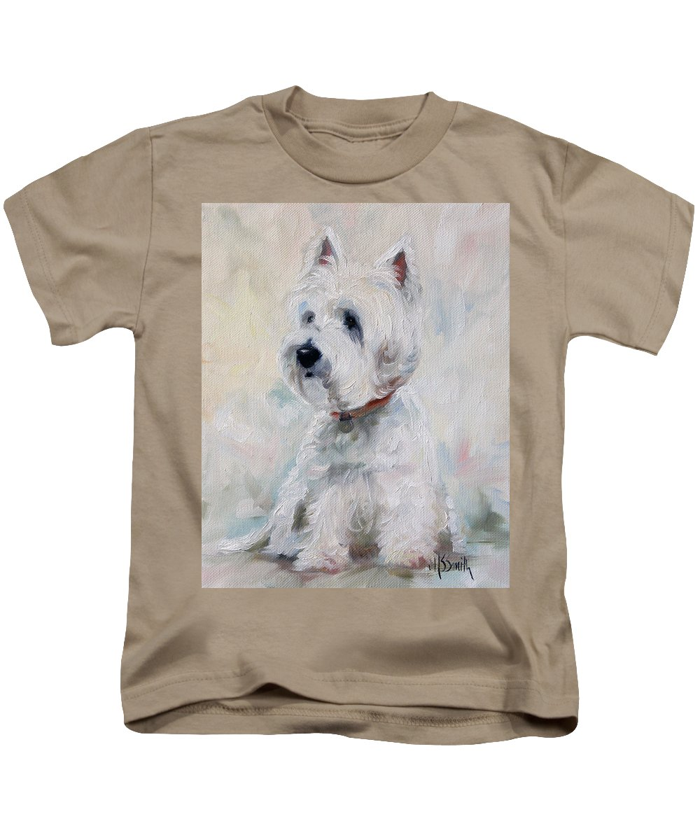 Art Kids T-Shirt featuring the painting Watch Dog by Mary Sparrow