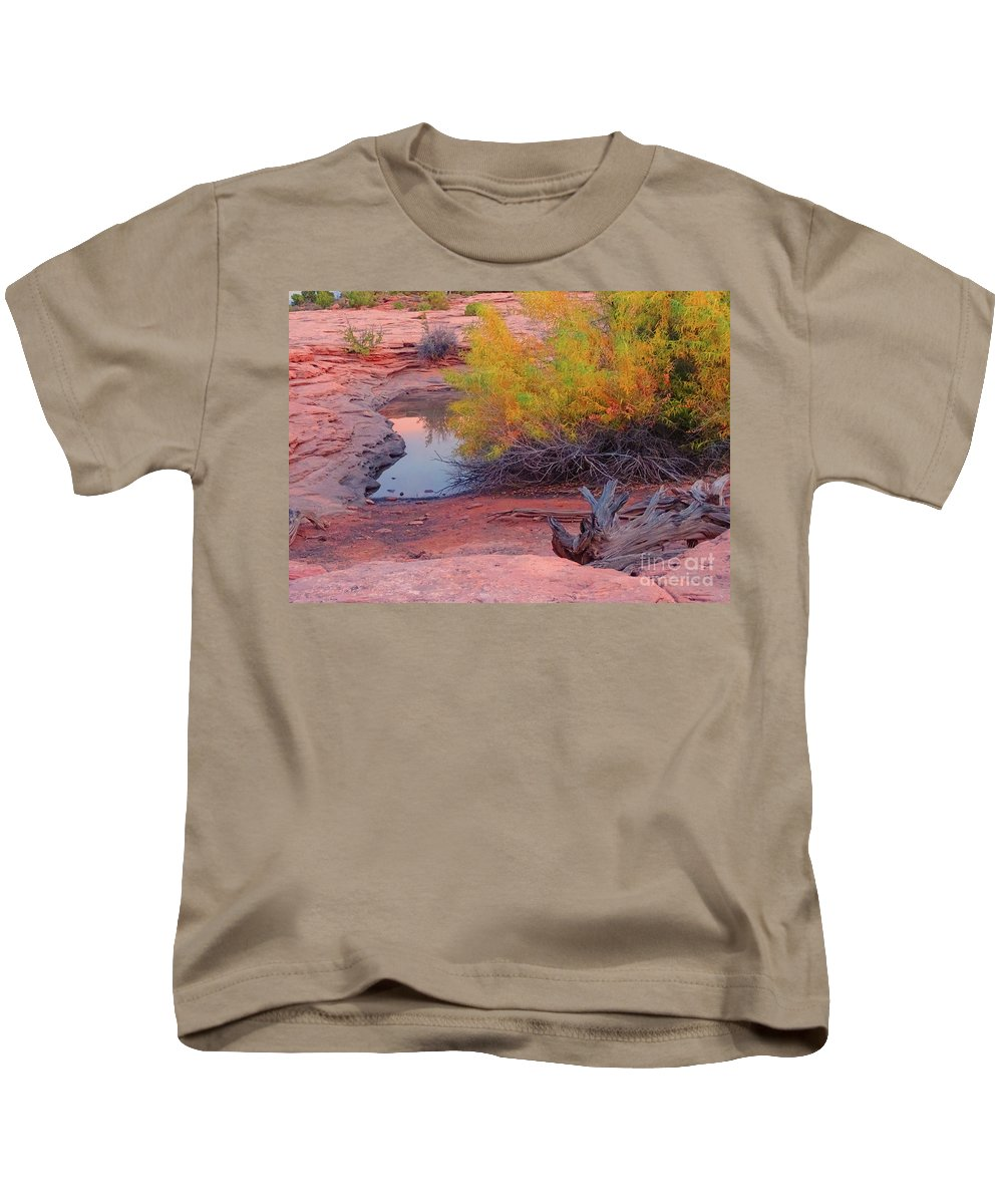 Water Kids T-Shirt featuring the photograph Magic Puddle At Canyon Lands by Eunice Warfel