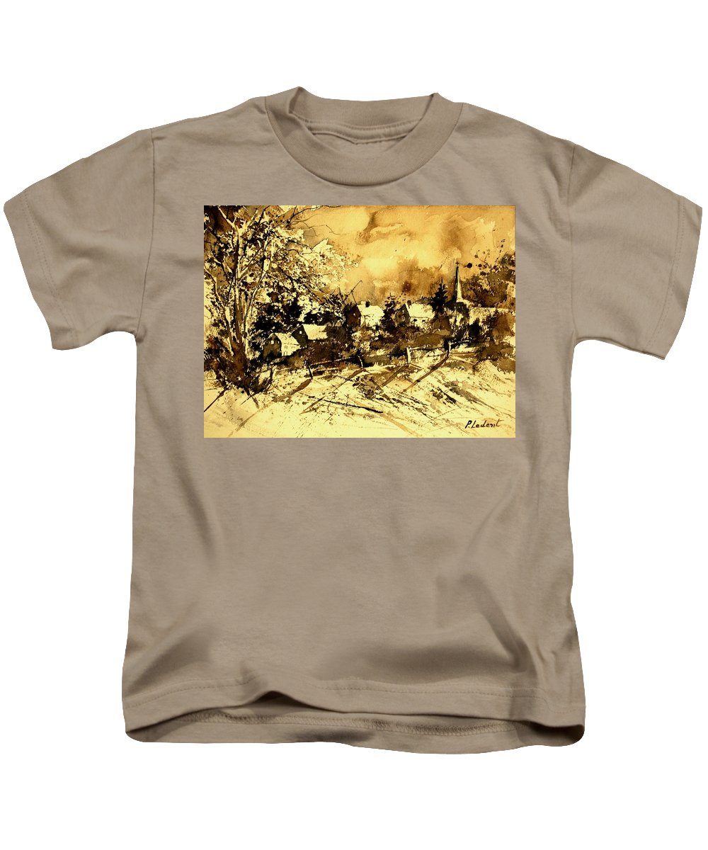 Kids T-Shirt featuring the painting Watercolor 01 by Pol Ledent