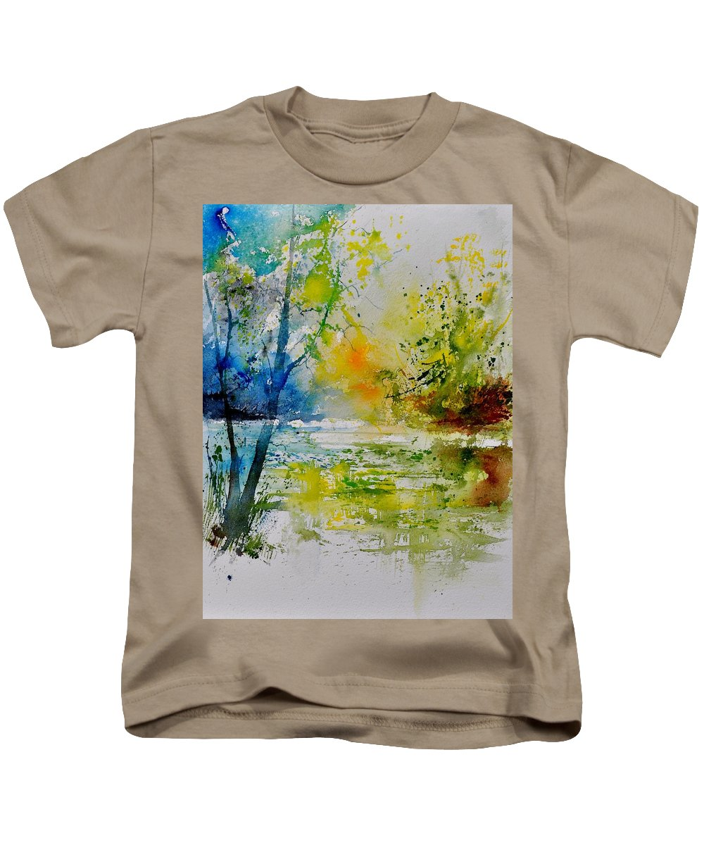 Pond Kids T-Shirt featuring the painting Watercolor 015003 by Pol Ledent