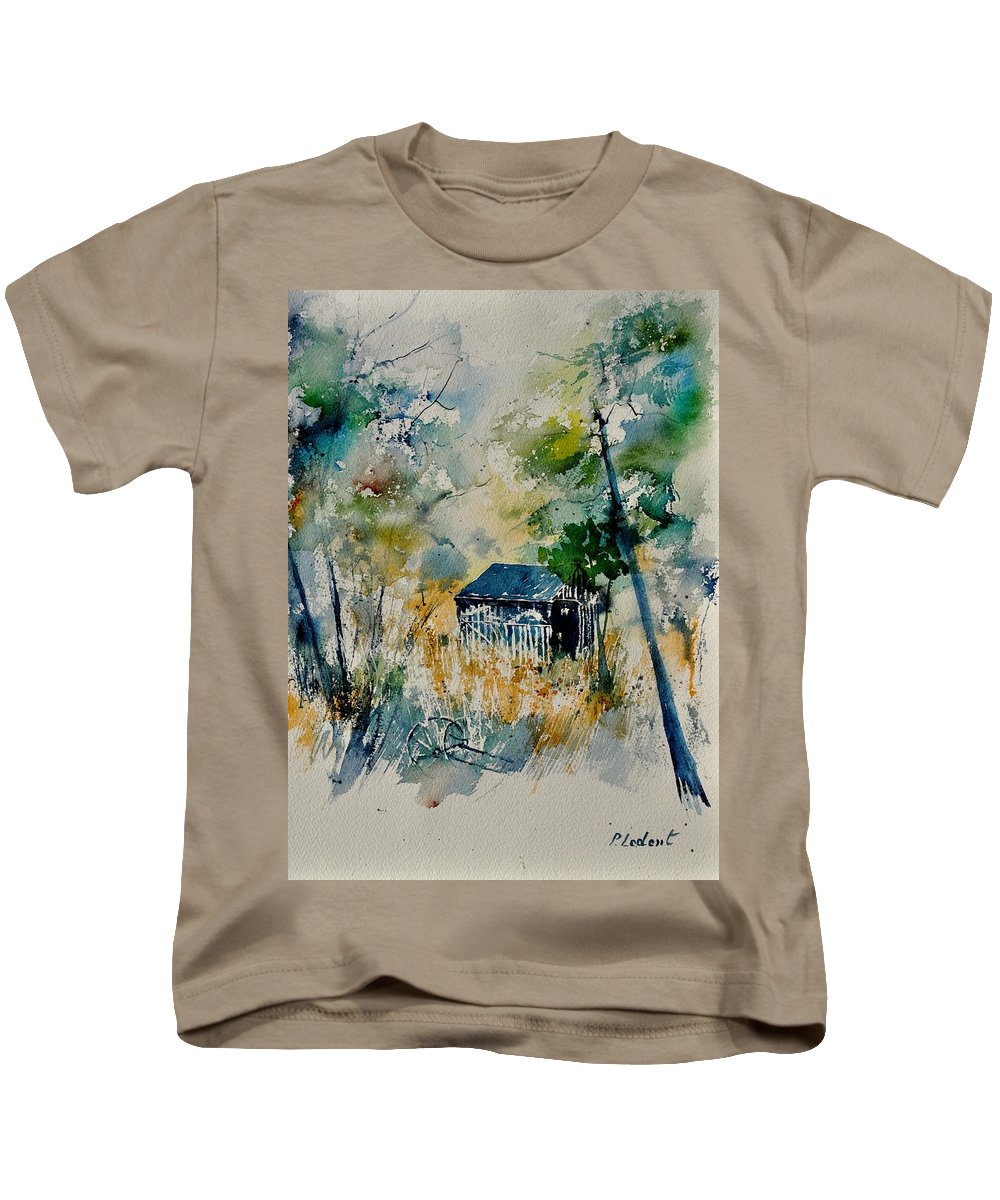 Landscape Kids T-Shirt featuring the painting Watercolor 015042 by Pol Ledent