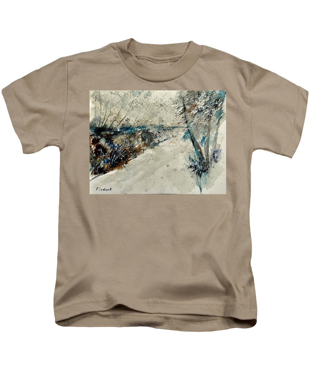 Landcape Kids T-Shirt featuring the painting Watercolor 018001 by Pol Ledent