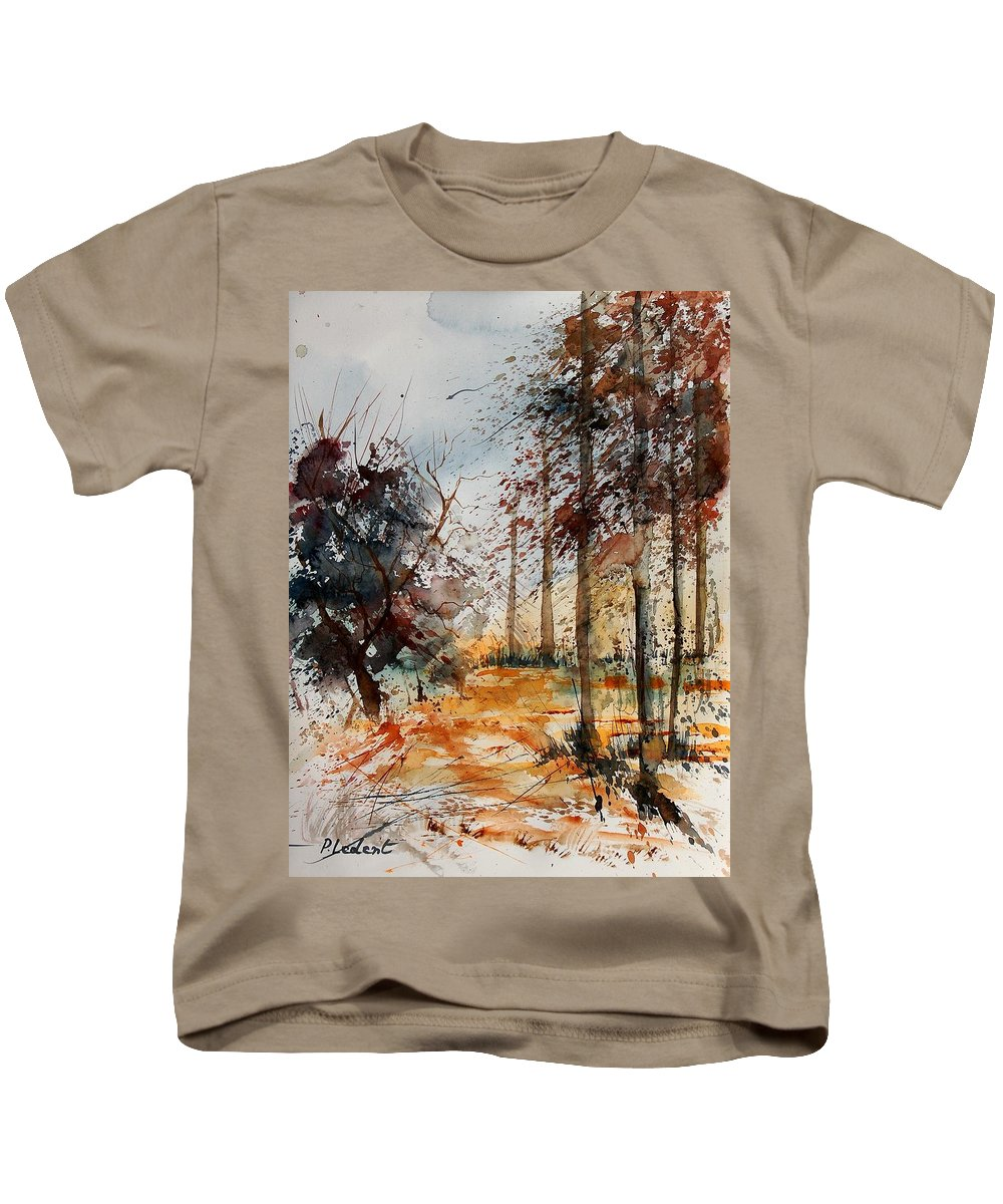 Tree Kids T-Shirt featuring the painting Watercolor 040902 by Pol Ledent