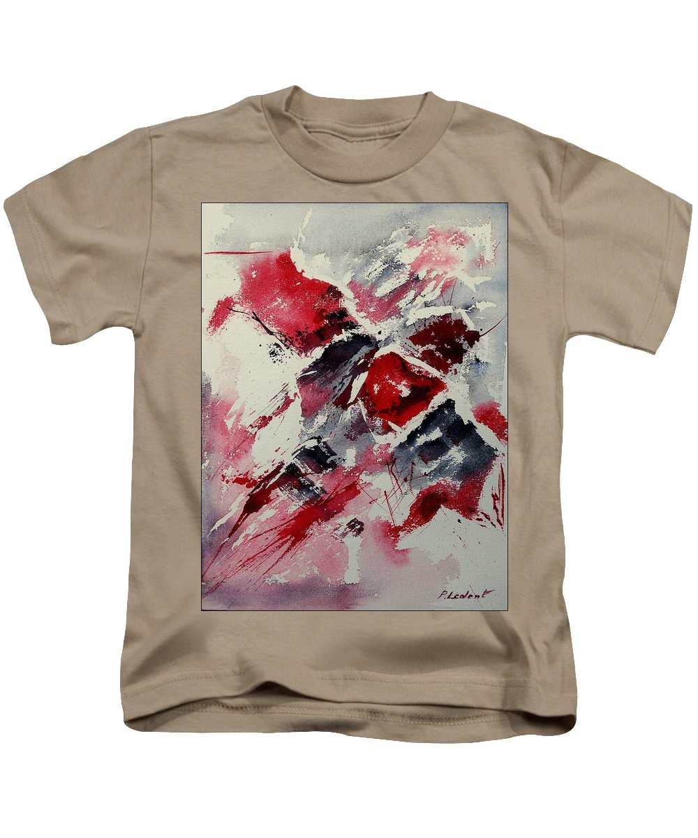 Abstract Kids T-Shirt featuring the painting Watercolor 050407 by Pol Ledent