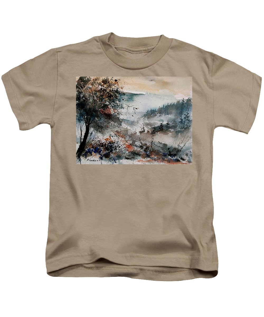 Winter Kids T-Shirt featuring the painting Watercolor 081108 by Pol Ledent