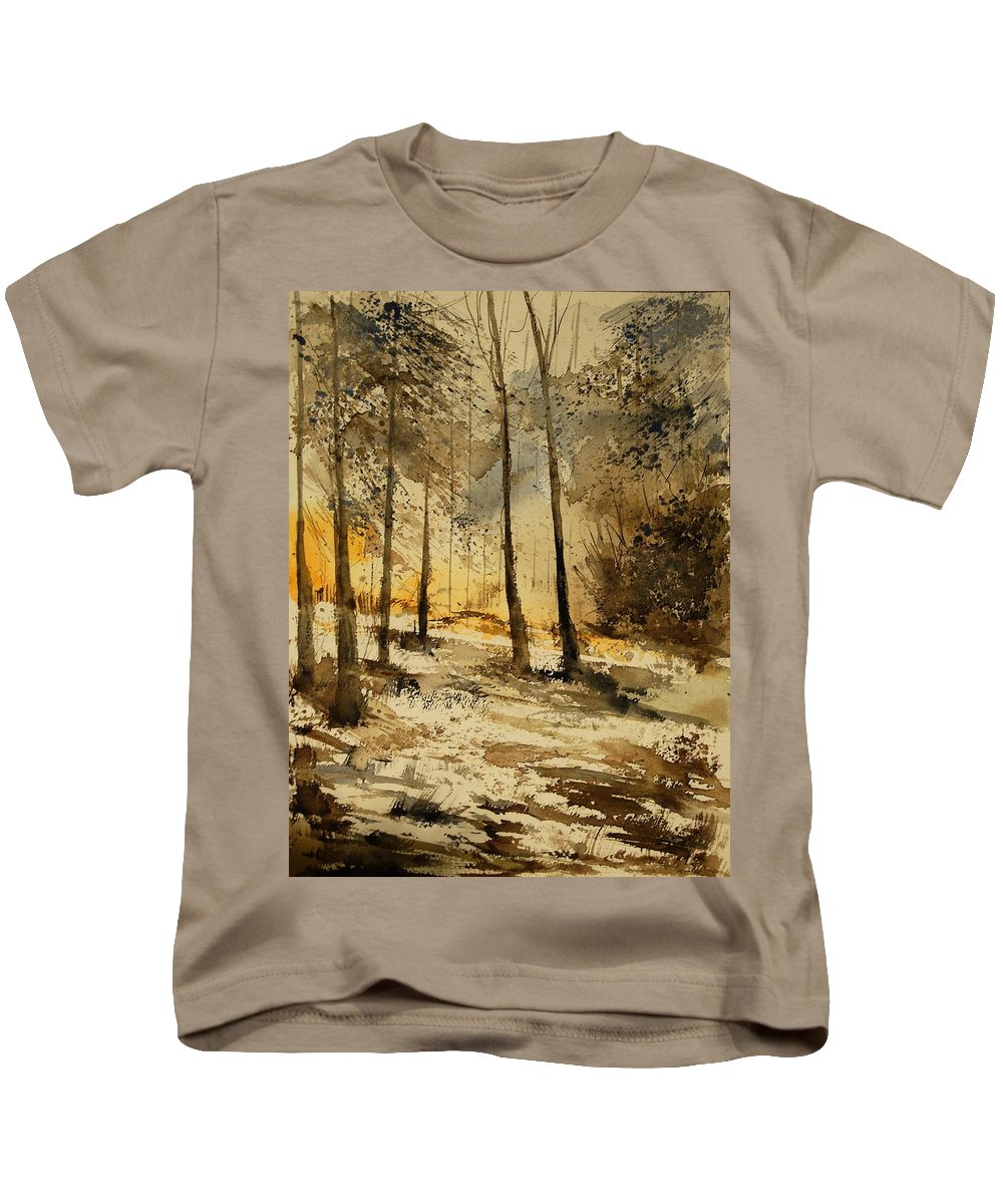Tree Kids T-Shirt featuring the painting Watercolor 191106 by Pol Ledent