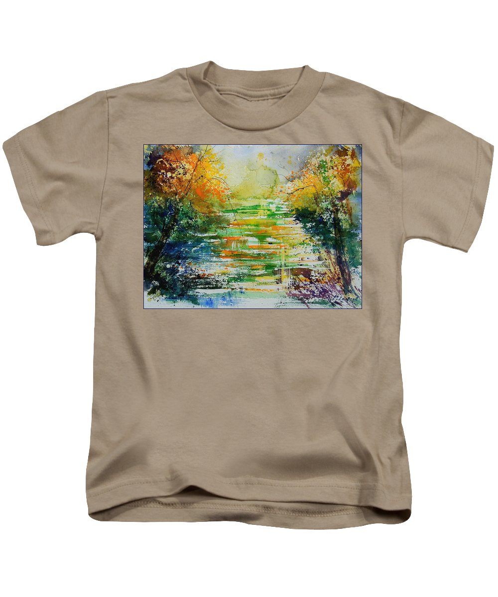 Water Kids T-Shirt featuring the painting Watercolor 230507 by Pol Ledent