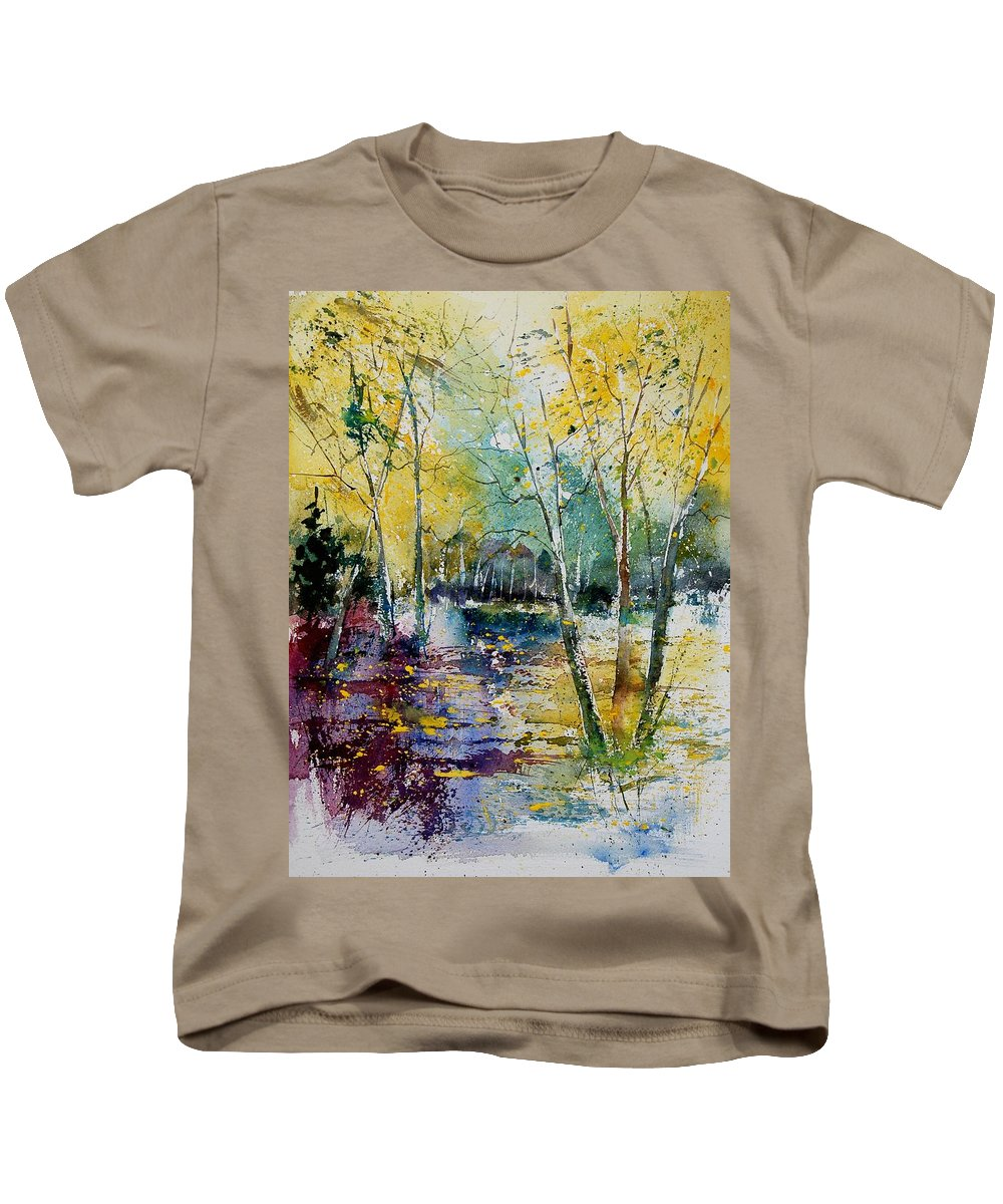 Pond Kids T-Shirt featuring the painting Watercolor 280809 by Pol Ledent