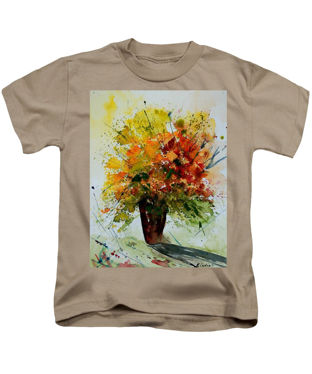 Flowers Kids T-Shirt featuring the painting Watercolor 290806 by Pol Ledent
