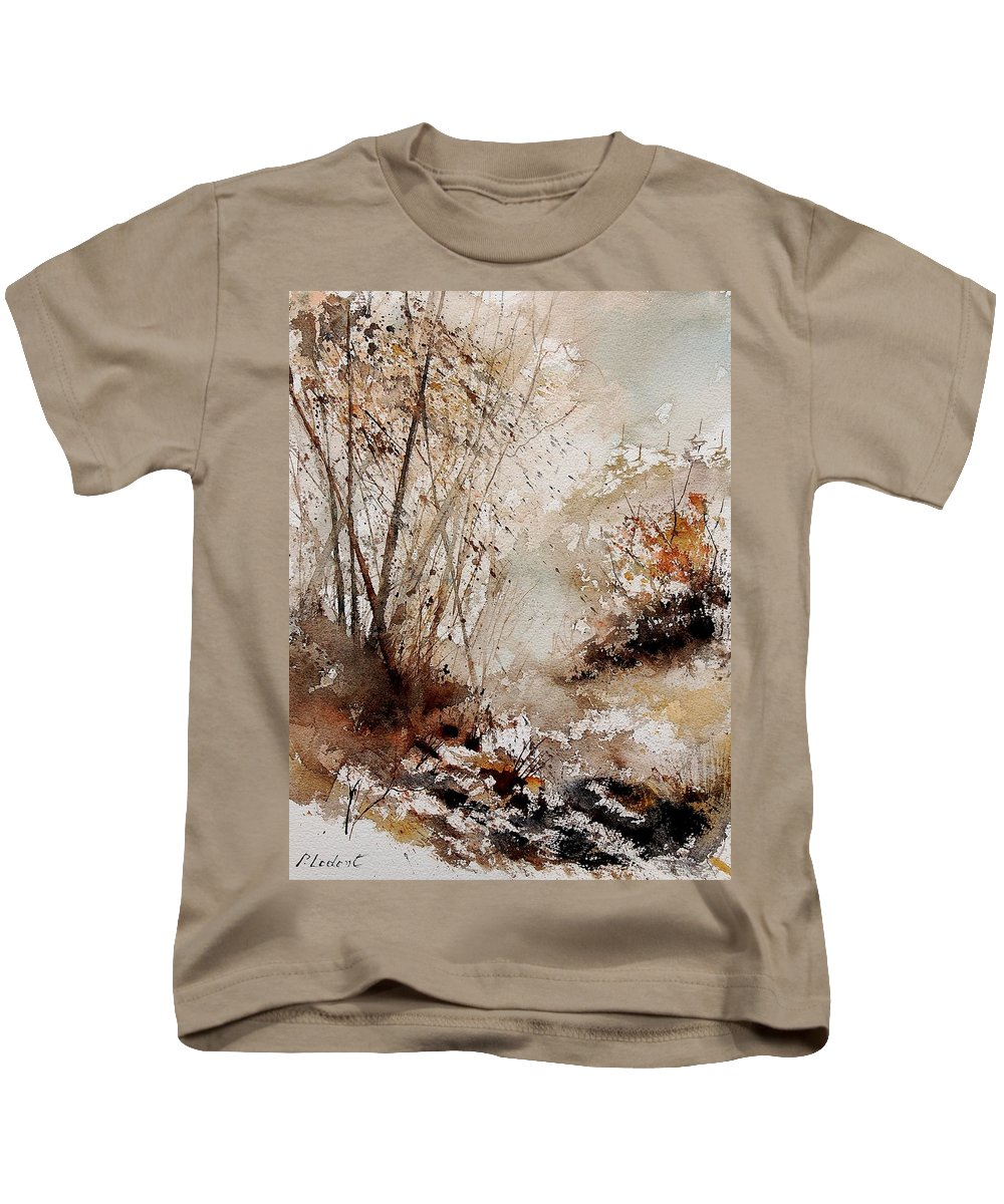 Tree Kids T-Shirt featuring the painting Watercolor 290808 by Pol Ledent