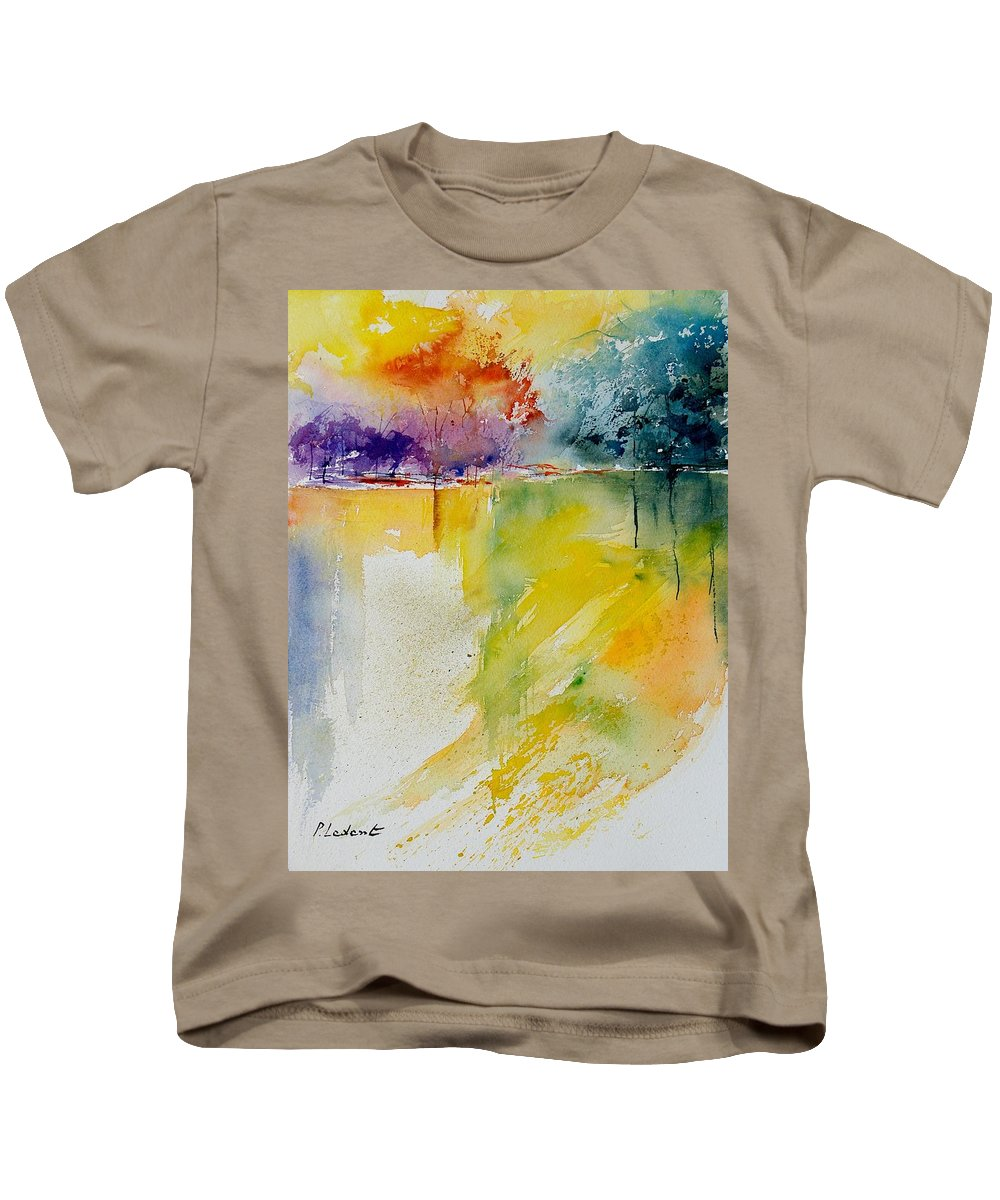 Pond Kids T-Shirt featuring the painting Watercolor 800142 by Pol Ledent