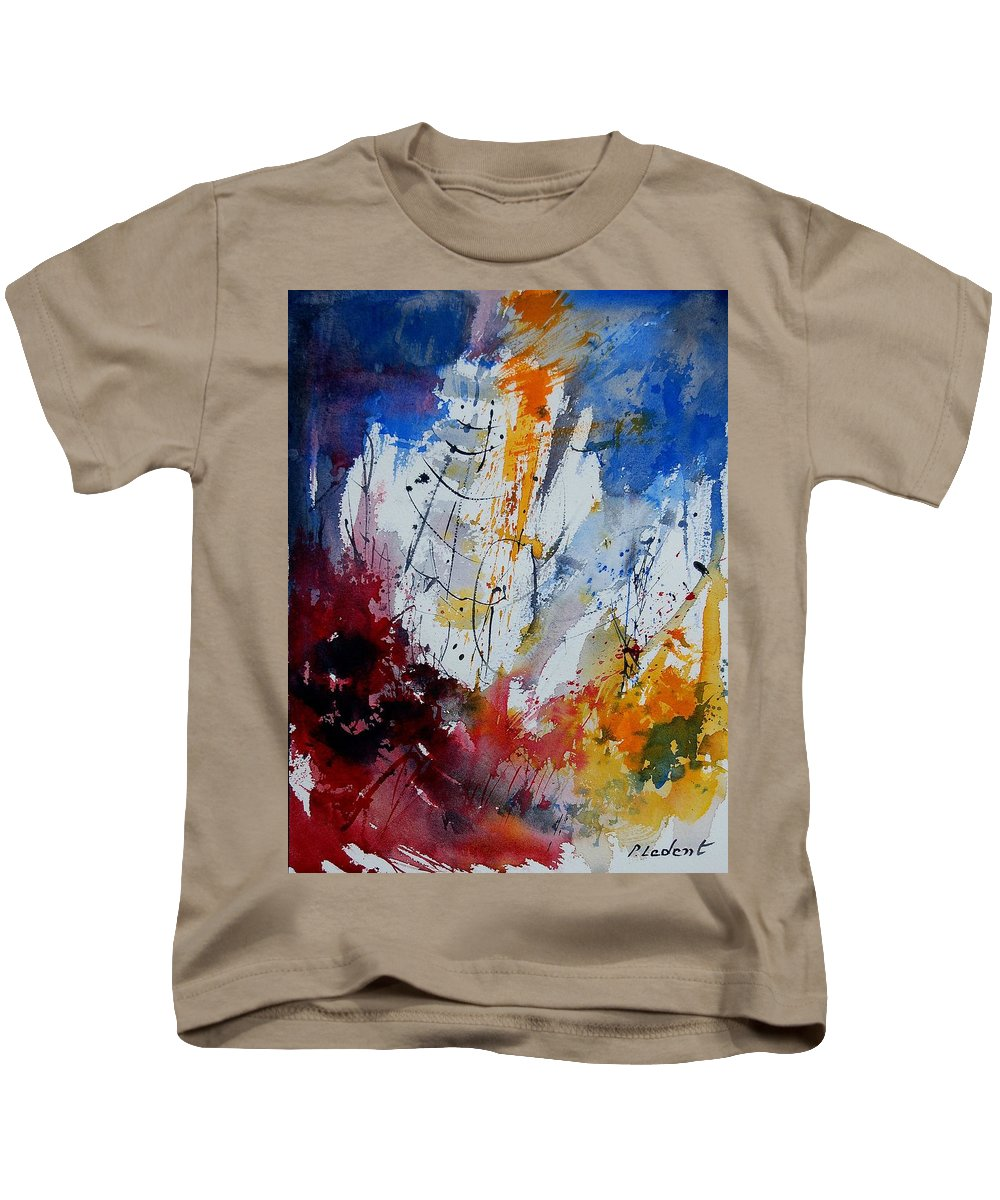 Abstract Kids T-Shirt featuring the painting Watercolor 901120 by Pol Ledent