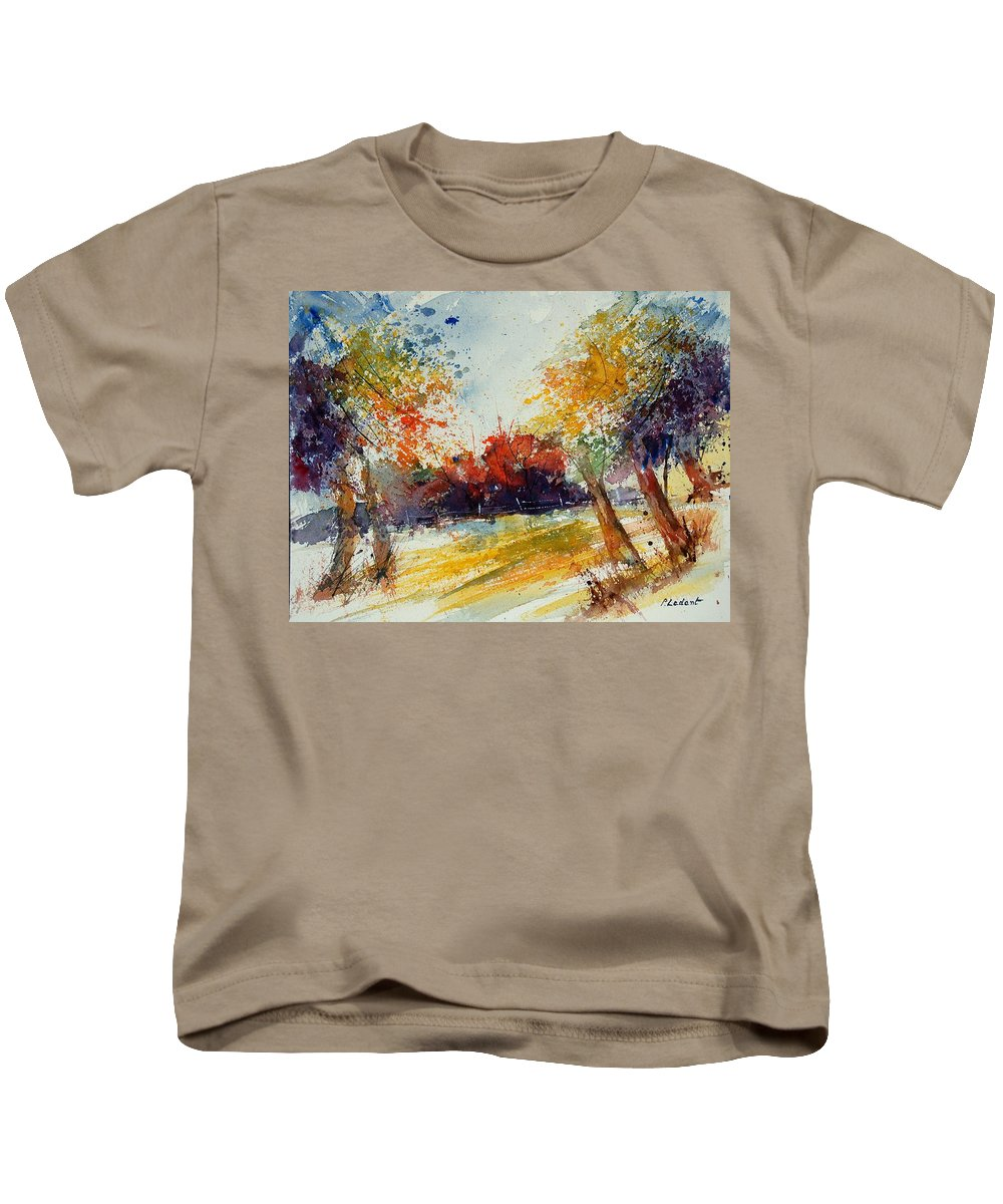 Tree Kids T-Shirt featuring the painting Watercolor 902010 by Pol Ledent