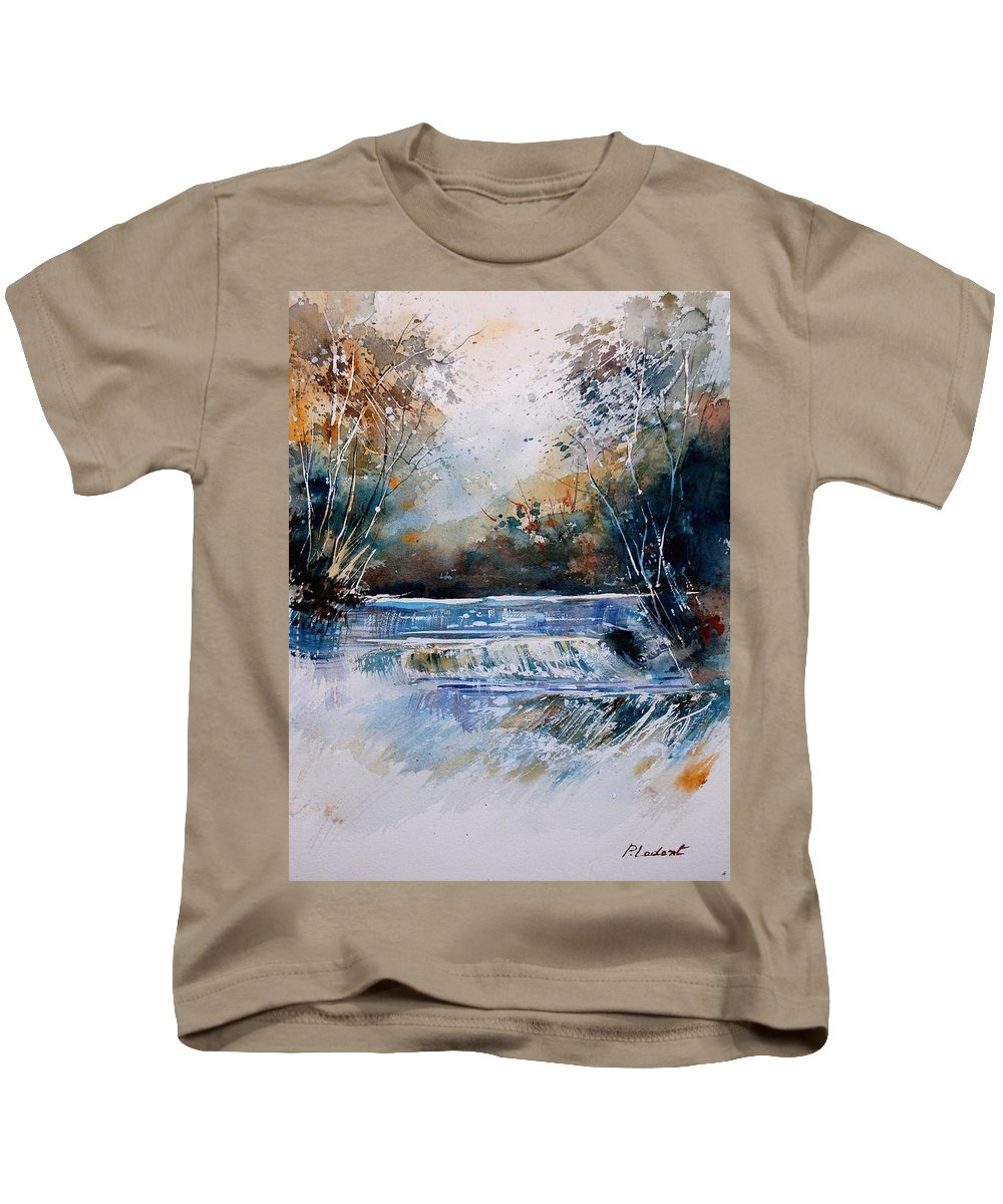 Water Kids T-Shirt featuring the painting Watercolor 902021 by Pol Ledent
