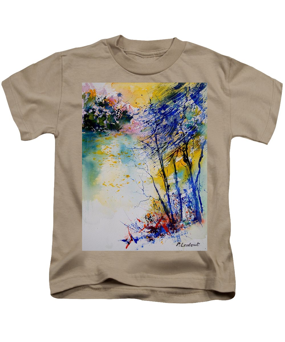 Water Kids T-Shirt featuring the painting Watercolor 902081 by Pol Ledent
