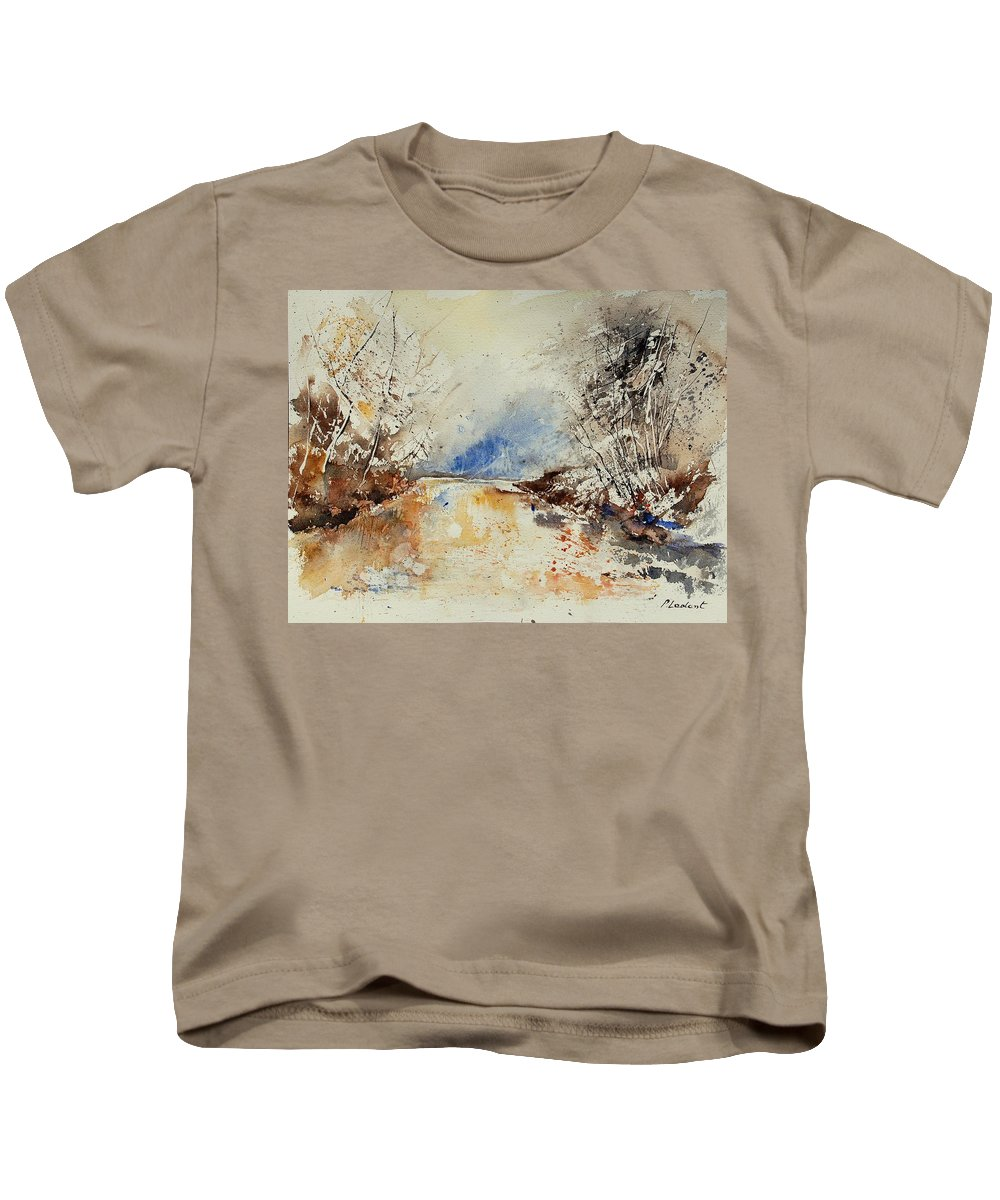 Water Kids T-Shirt featuring the painting Watercolor 903002 by Pol Ledent