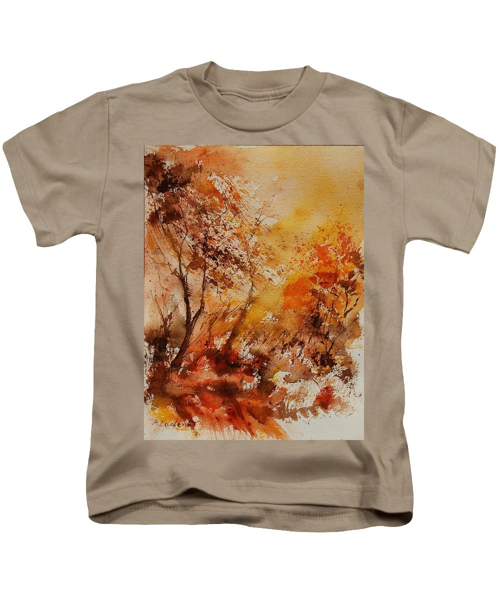Tree Kids T-Shirt featuring the painting Watercolor 903071 by Pol Ledent