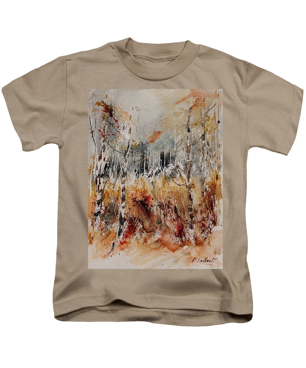 Tree Kids T-Shirt featuring the painting Watercolor 904012 by Pol Ledent