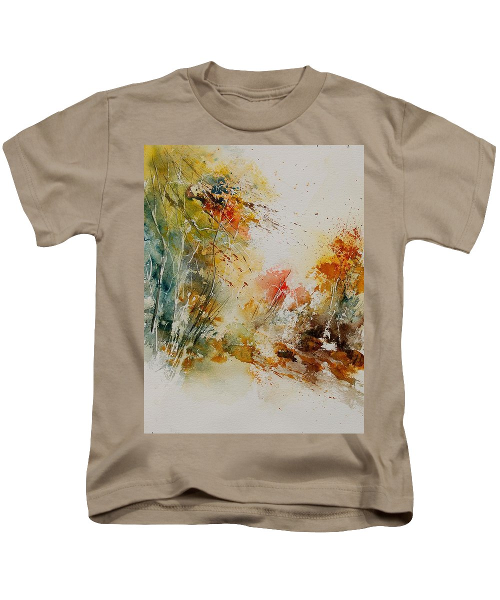 Tree Kids T-Shirt featuring the painting Watercolor 905022 by Pol Ledent