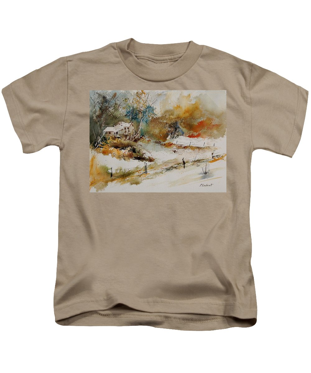 Tree Kids T-Shirt featuring the painting Watercolor 905061 by Pol Ledent