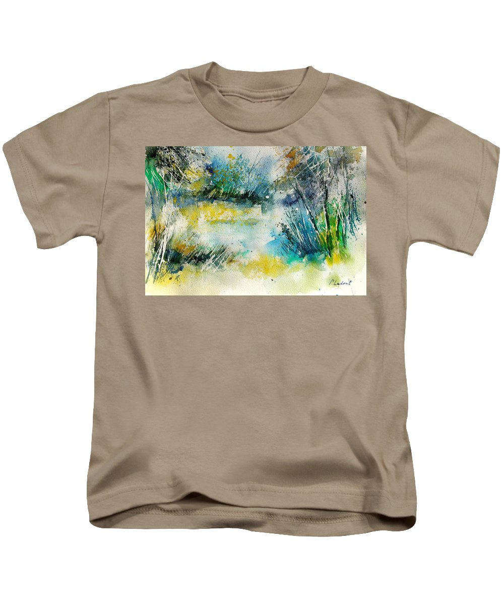 Water Kids T-Shirt featuring the painting Watercolor 906020 by Pol Ledent