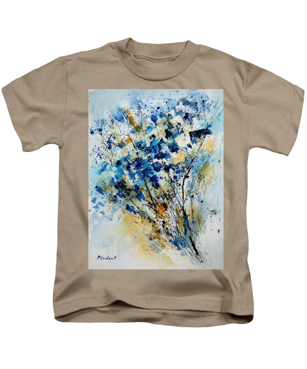 Flowers Kids T-Shirt featuring the painting Watercolor 907003 by Pol Ledent