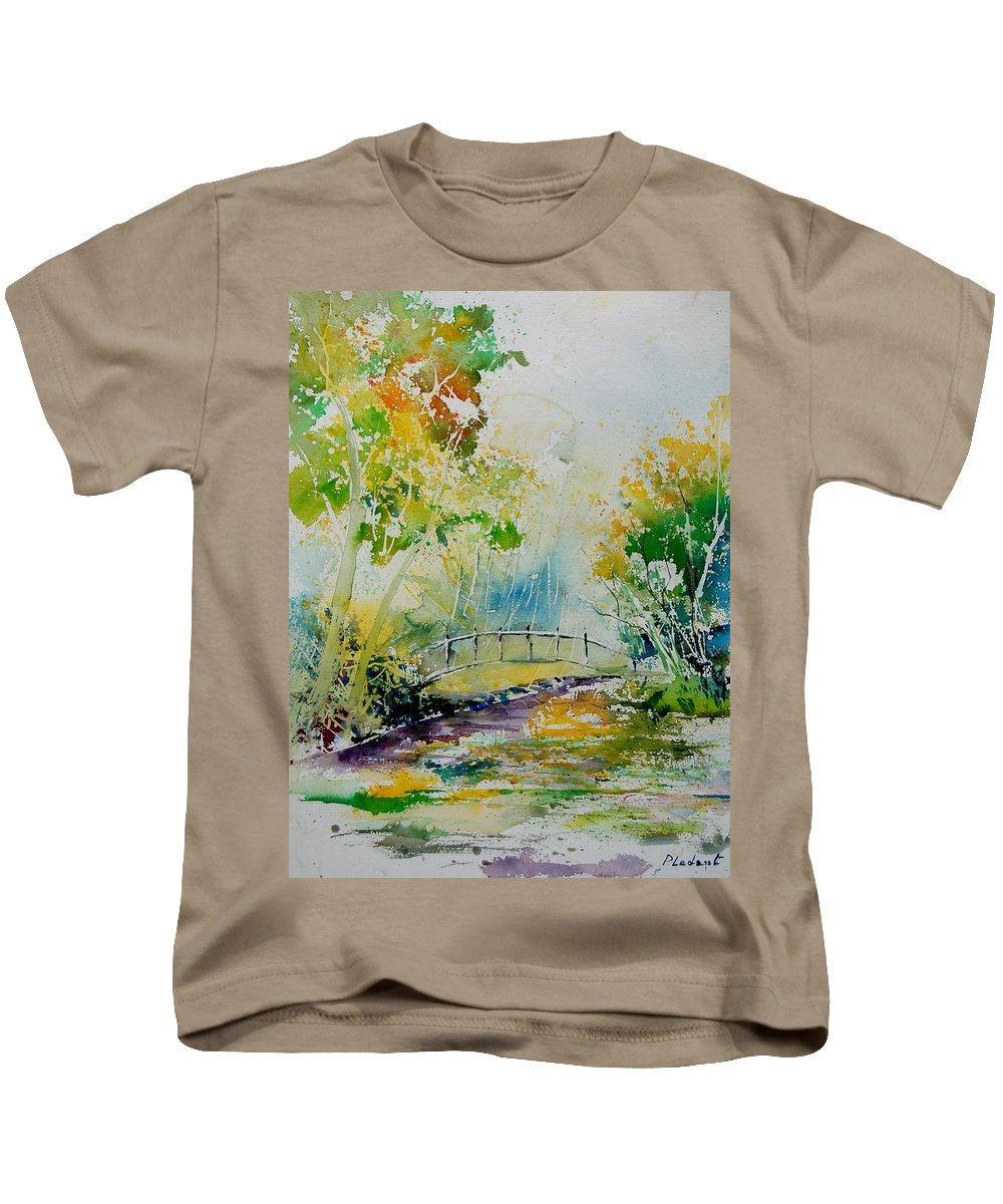 Water Kids T-Shirt featuring the painting Watercolor 908020 by Pol Ledent