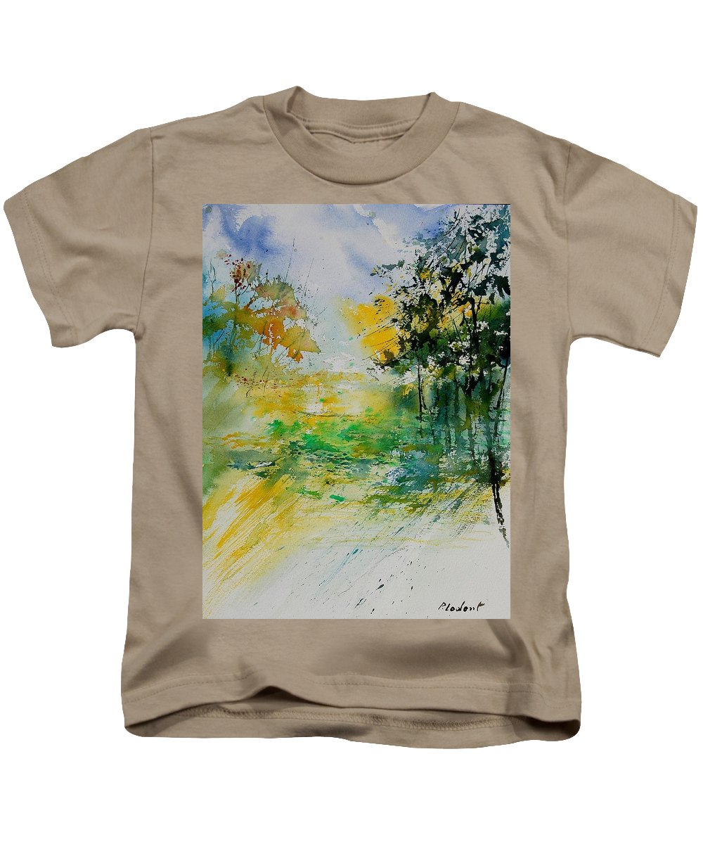 Water Kids T-Shirt featuring the painting Watercolor 908051 by Pol Ledent