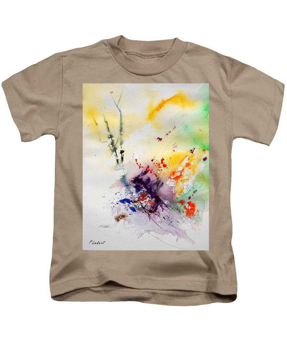 Abstract Kids T-Shirt featuring the painting Watercolor 908090 by Pol Ledent