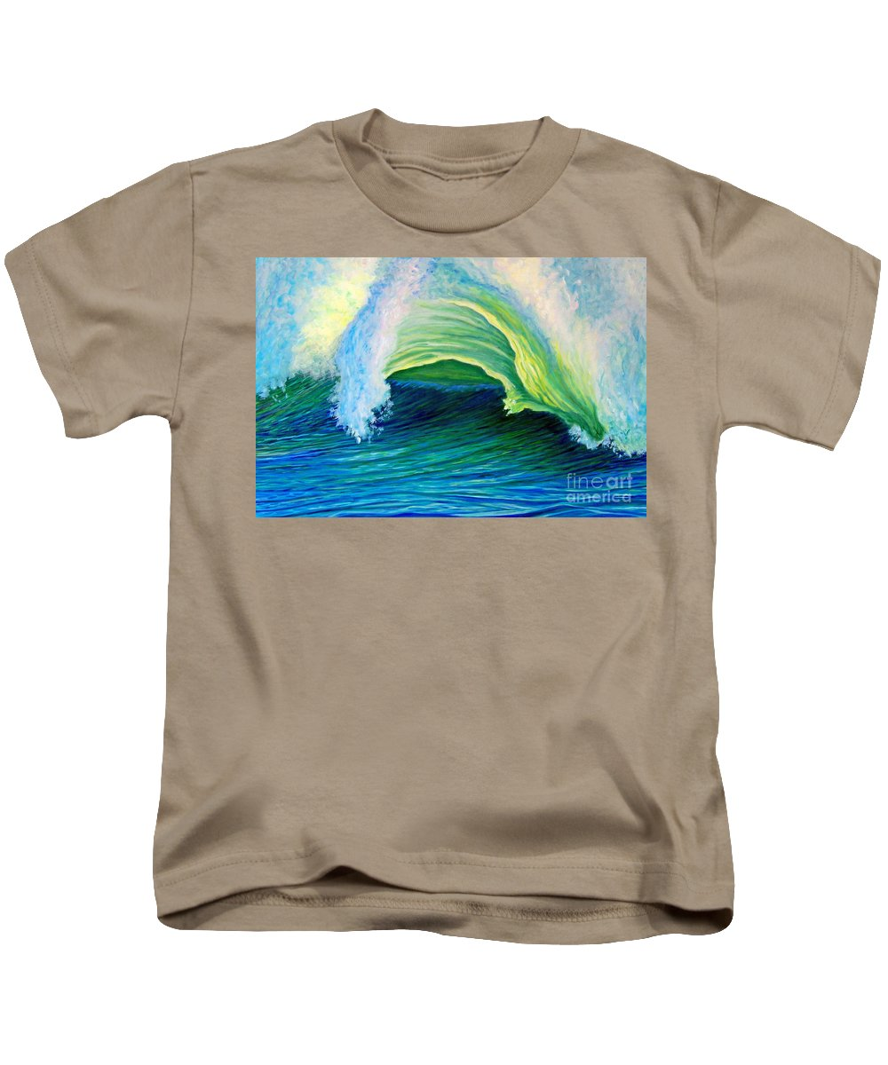 Seascape Kids T-Shirt featuring the painting We Are One by Brian Commerford