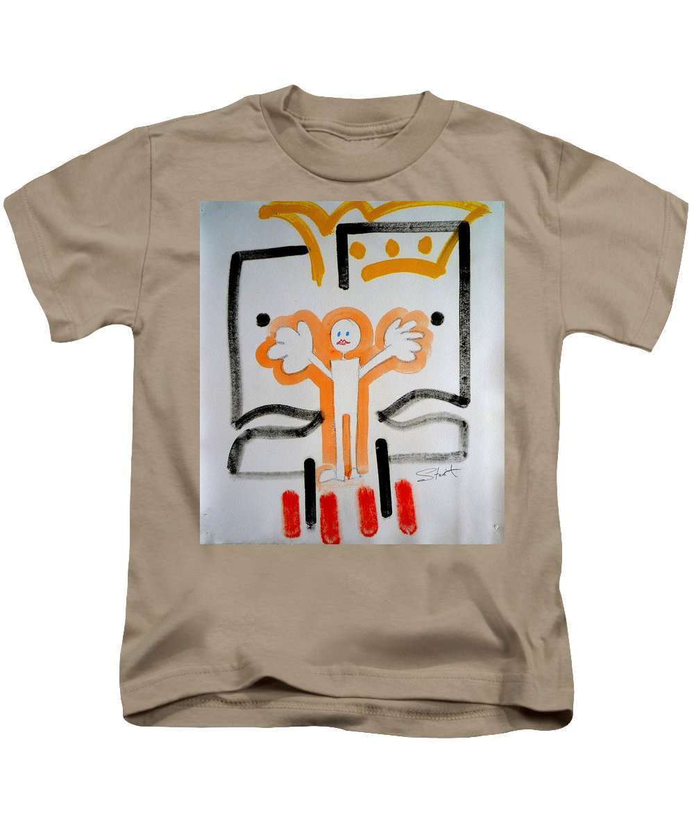Drawing Kids T-Shirt featuring the painting welcome to the U N by Charles Stuart