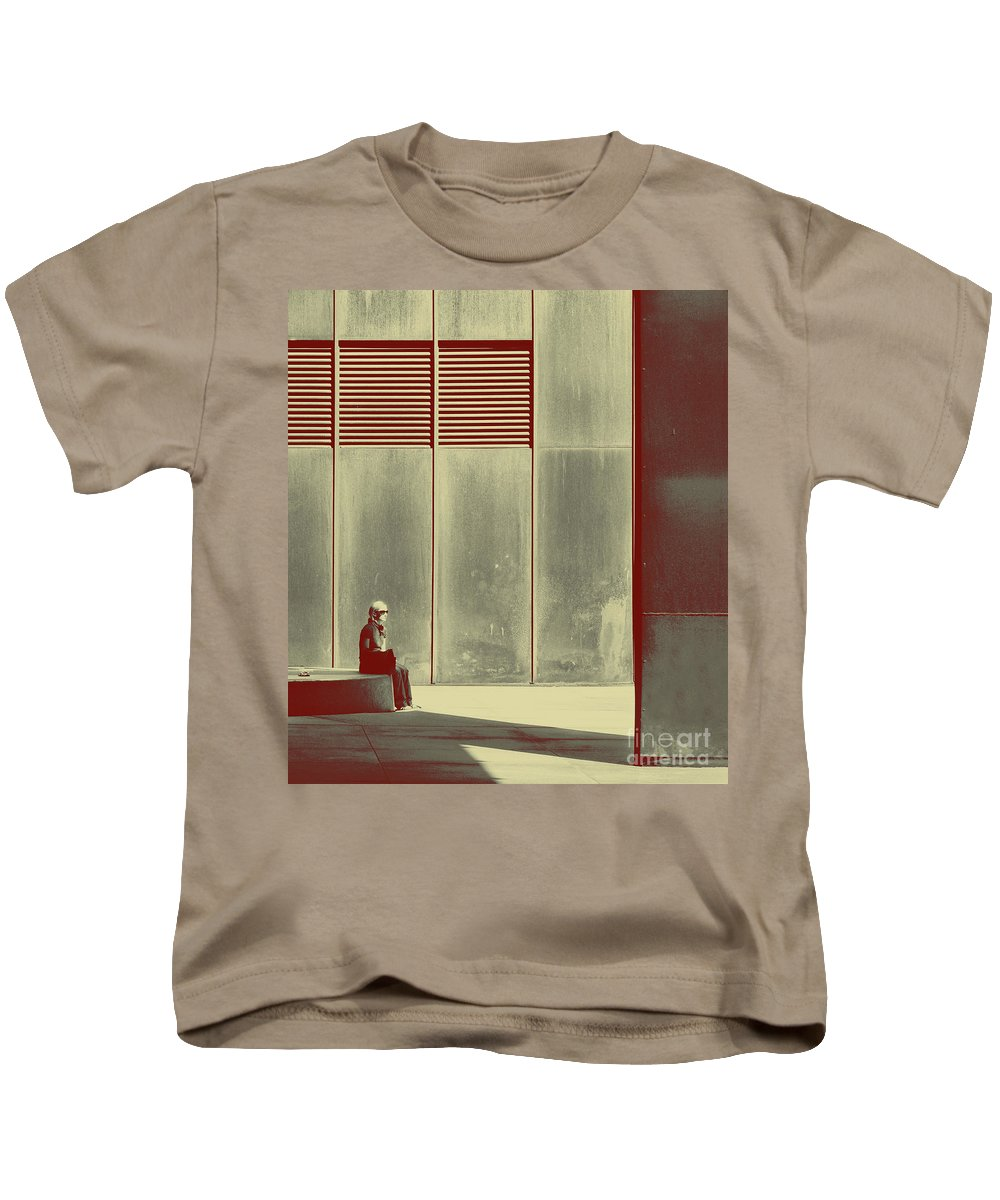 Alone Kids T-Shirt featuring the photograph When Shes Gone by Dana DiPasquale