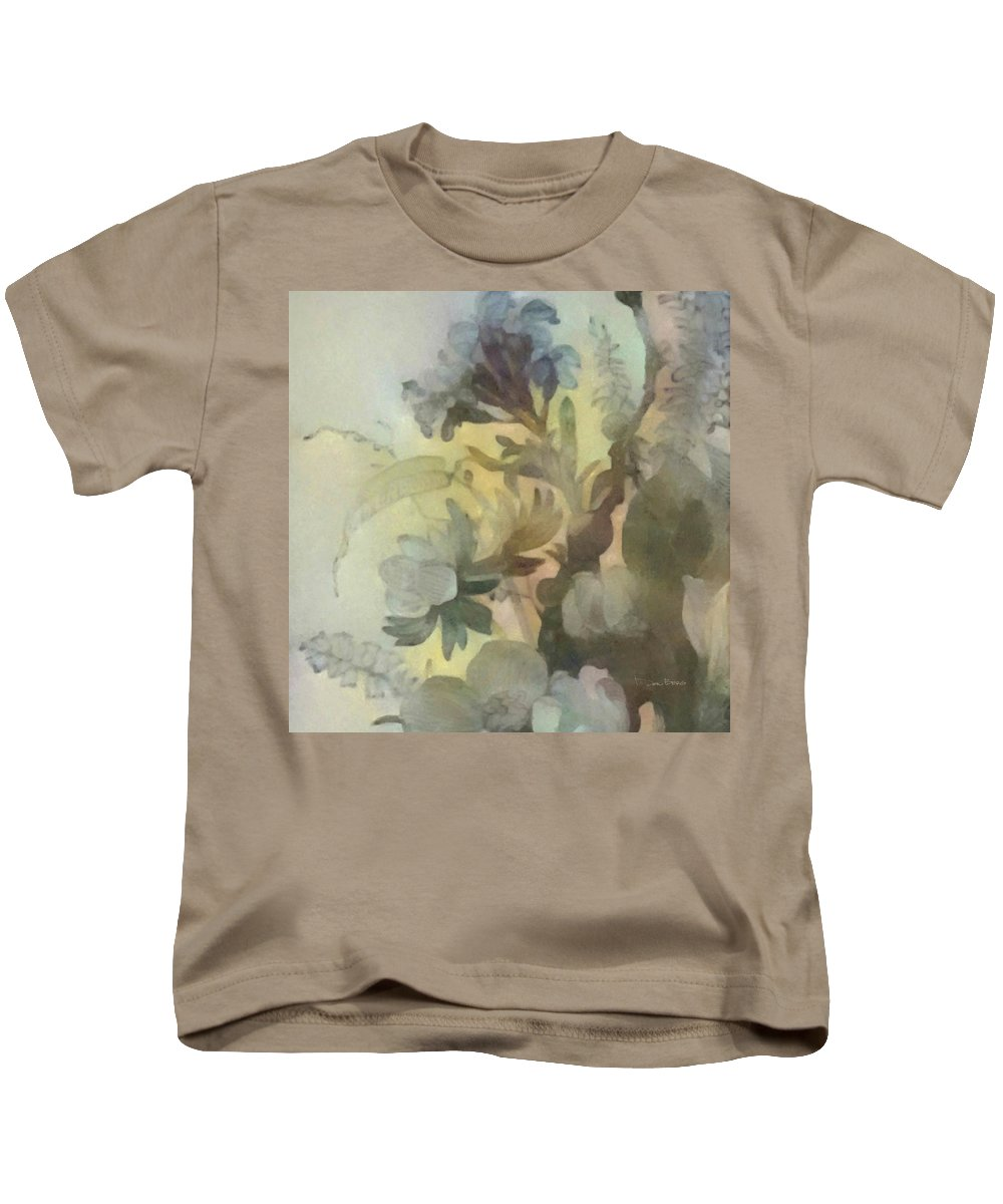 Flowers Kids T-Shirt featuring the digital art Whispering Flowers 2 by Don Berg