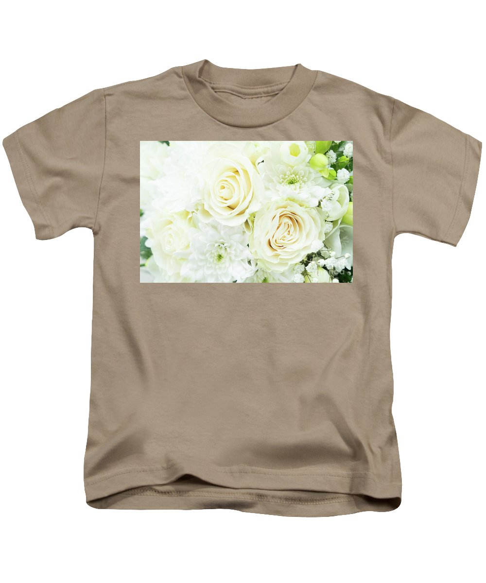Roses Kids T-Shirt featuring the photograph White Bouquet by Anastasy Yarmolovich