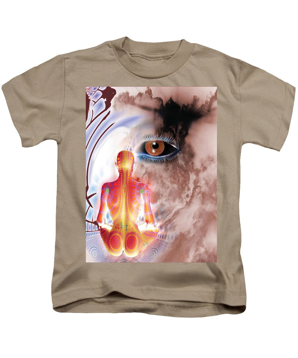 Eye Kids T-Shirt featuring the digital art Whose I Is Eckharts Eye by Tony Macelli