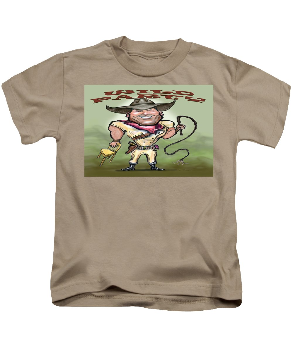Wild Party Kids T-Shirt featuring the greeting card Wild Party by Kevin Middleton
