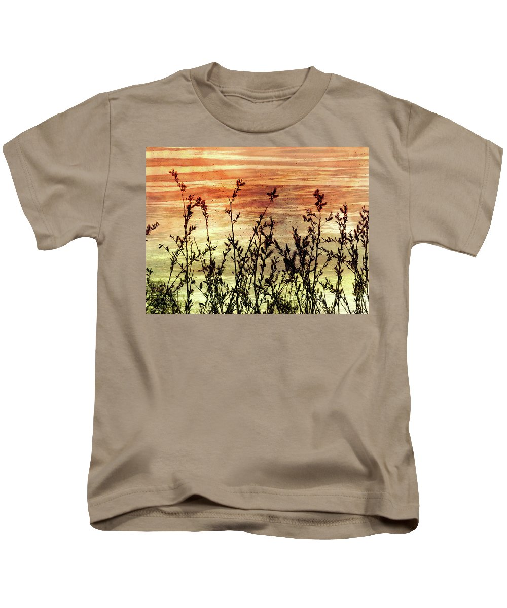 Wildflowers On Copper Kids T-Shirt featuring the digital art Wildflower Sunrise by Shawna Rowe