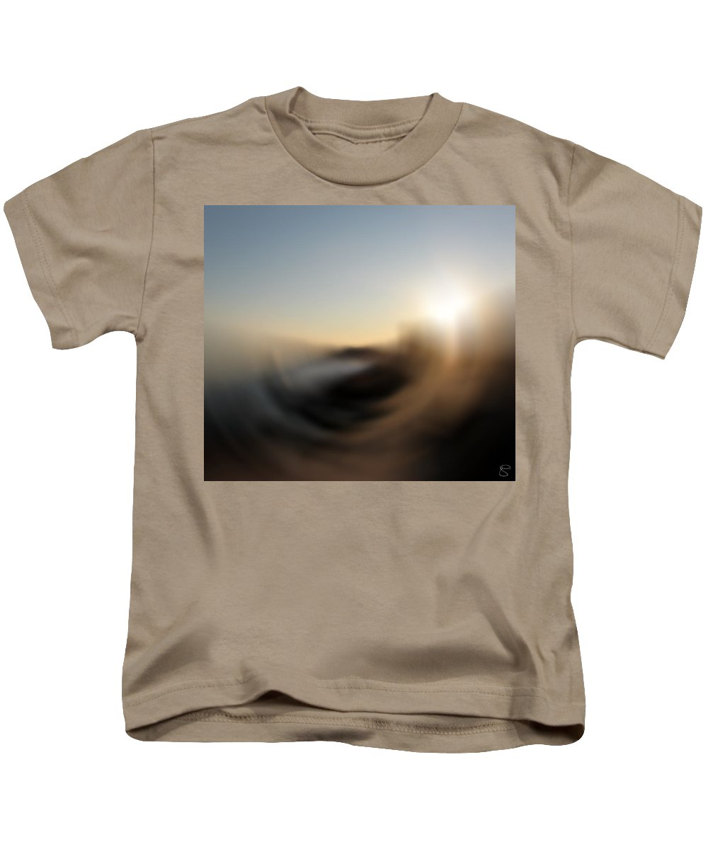 Abstract Kids T-Shirt featuring the digital art Wind by Stacey May